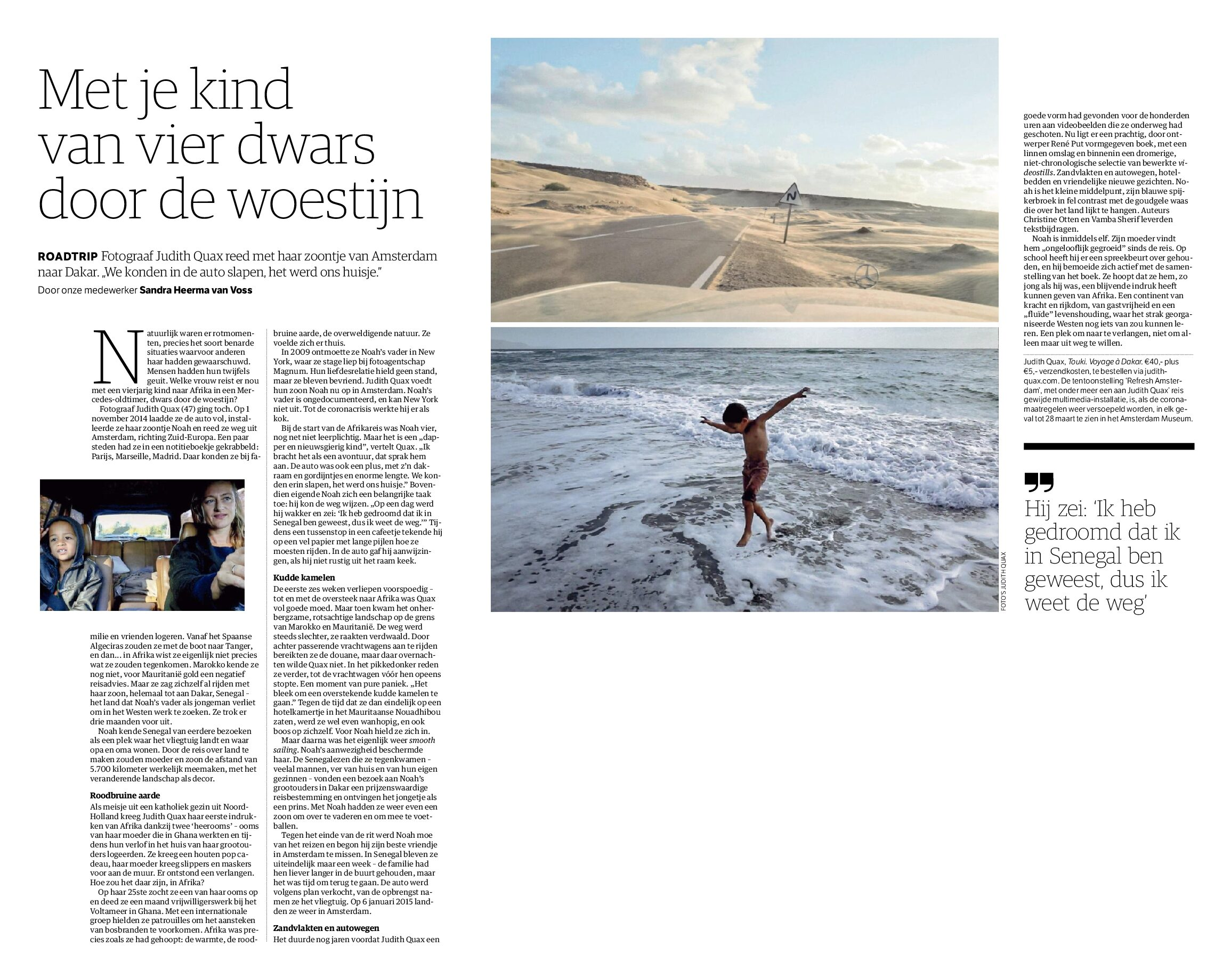 Interview in NRC newspaper
